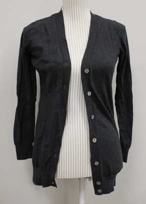 GREY CARDIGAN LADIES APPROX SM-MED VGUC