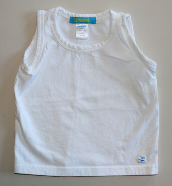GYMBOREE WHITE TANK TOP 12-18M EUC