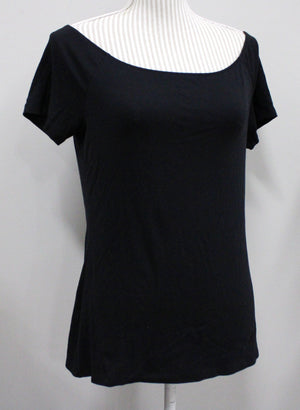 OLD NAVY CLASSIC FIT BLACK STRETCH TOP LADIES LARGE EUC