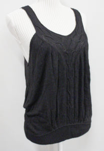 BLACK KNIT TANK LADIES APPROX MEDIUM VGUC/EUC