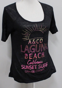 ARDENES THIN BLACK TEE LADIES SMALL VGUC