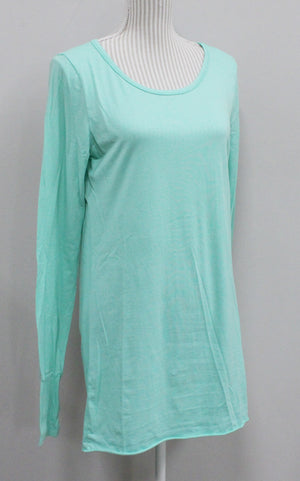VENLEY TEAL LONG TOP LADIES LARGE EUC
