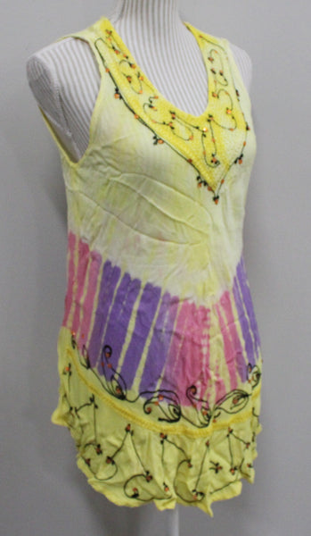 ACE FASHION YELLOW LIGHT TOP LADIES MEDIUM VGUC/EUC