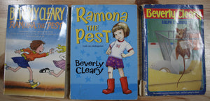 BEVERLY CLEARY CHAPTER BOOKS 3 SET VGUC/GUC