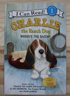STEP 1 READER BOOK - CHARLIE THE RANCH DOG- WHERE'S THE BACON? EUC
