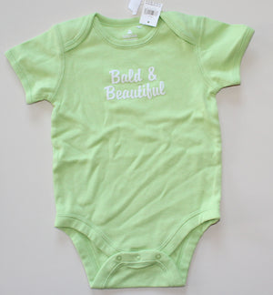 GAP ONESIE BALD IS BEAUTIFUL 12-18 MONTH NWT