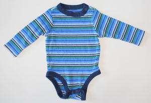 OLD NAVY STRIPED ONESIE 3-6 MONTH VGUC