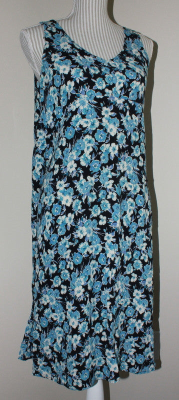 OLD NAVY MATERNITY BLUE FLORAL DRESS LADIES MEDIUM VGUC