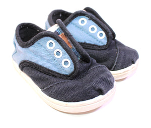 TOMS NAVY SHOES SIZE 4 TODDLER VGUC