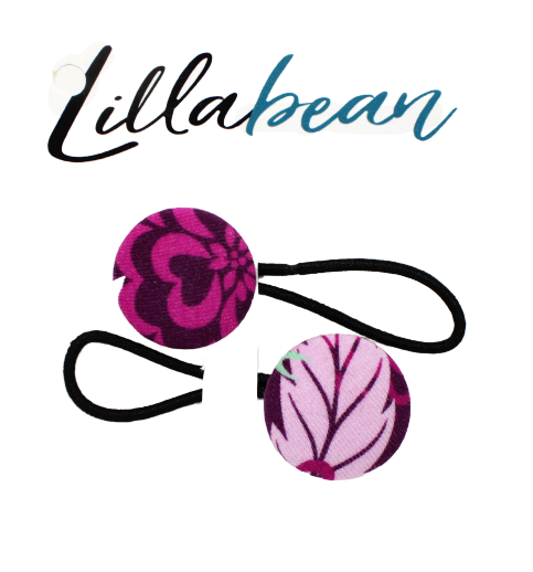 Lillabean, 2 Pack Button Hair Ties