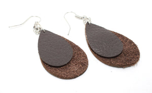 Rough Cut Dezigns, Wood & Leather Earrings