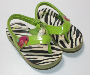 GYMBOREE ANIMAL PRINT SANDALS SIZE 7-8 VGUC/GUC