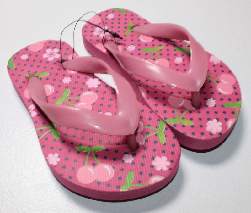 CHERRY FLIP FLOPS APPROX SIZE 4 NEW