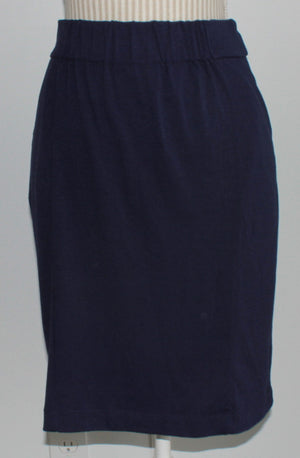 JOE FRESH COTTON NAVY SKIRT LADIES XS EUC