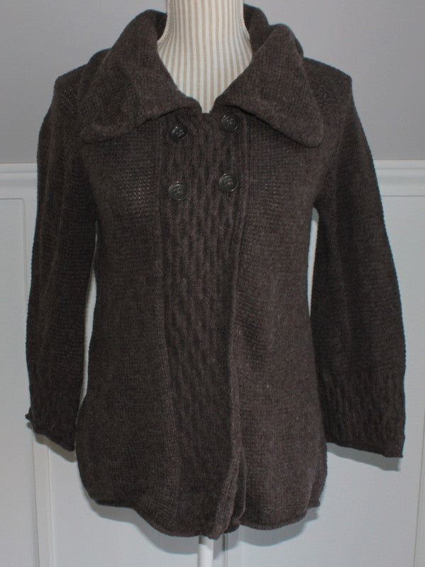 ESPIRIT BROWN/GREY SWEATER LADIES MEDIUM EUC