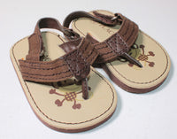TCP BROWN SANDALS 3-6M EUC