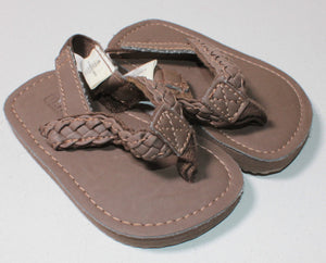 OLD NAVY BROWN SANDALS SIZE 1 (0-3M) EUC