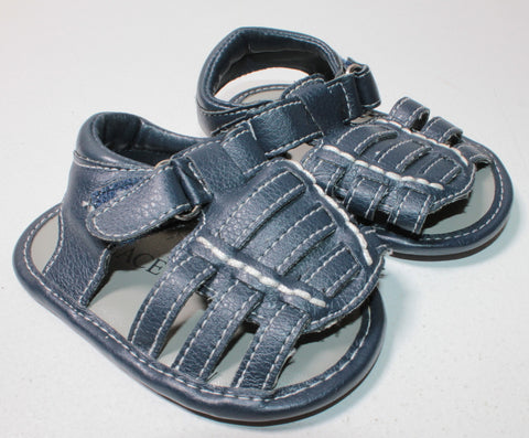 TCP NAVY SANDALS 3-6M EUC