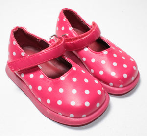 TCP HARD SOLE RED POLKA DOT SHOE 3M EUC