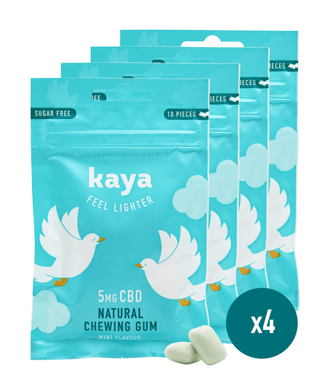Chewing-gums relaxants x4 Chewing-gum Kaya