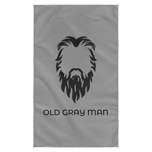 Old Gray Man Wall Flag