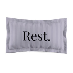 Microfiber Pillow Sham - Rest. - Grey