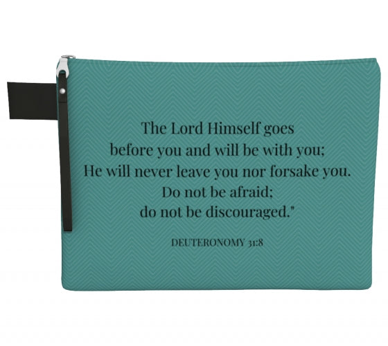 Zipper Carry-all - Deuteronomy 31:8 - Teal