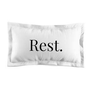Microfiber Pillow Sham - Rest.