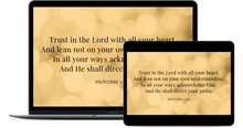 Load image into Gallery viewer, Desktop Screensaver - Proverbs 3:5&6 - Yellow Bokeh