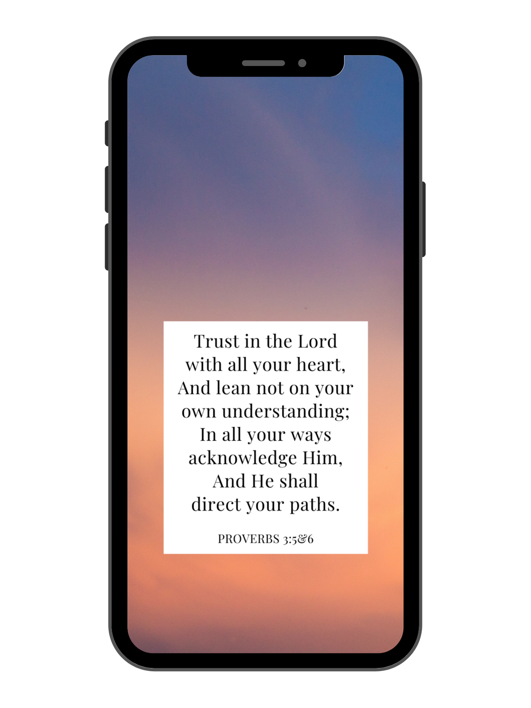 iPhone Wallpaper - Proverbs 3:5&6 - Dusk