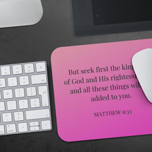 Load image into Gallery viewer, Mousepad - Matthew 6:33 - Hot Pink