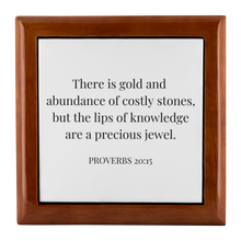 Load image into Gallery viewer, Jewellery Box - Proverbs 20:15