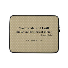 Load image into Gallery viewer, Laptop Sleeve - Matthew 4:19 - Brown