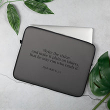 Load image into Gallery viewer, Laptop Sleeve - Habakkuk 2:2 - Dark Grey