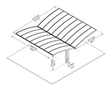 Arizona Wave Double Carport Wing Style 19 x 16 HG9101