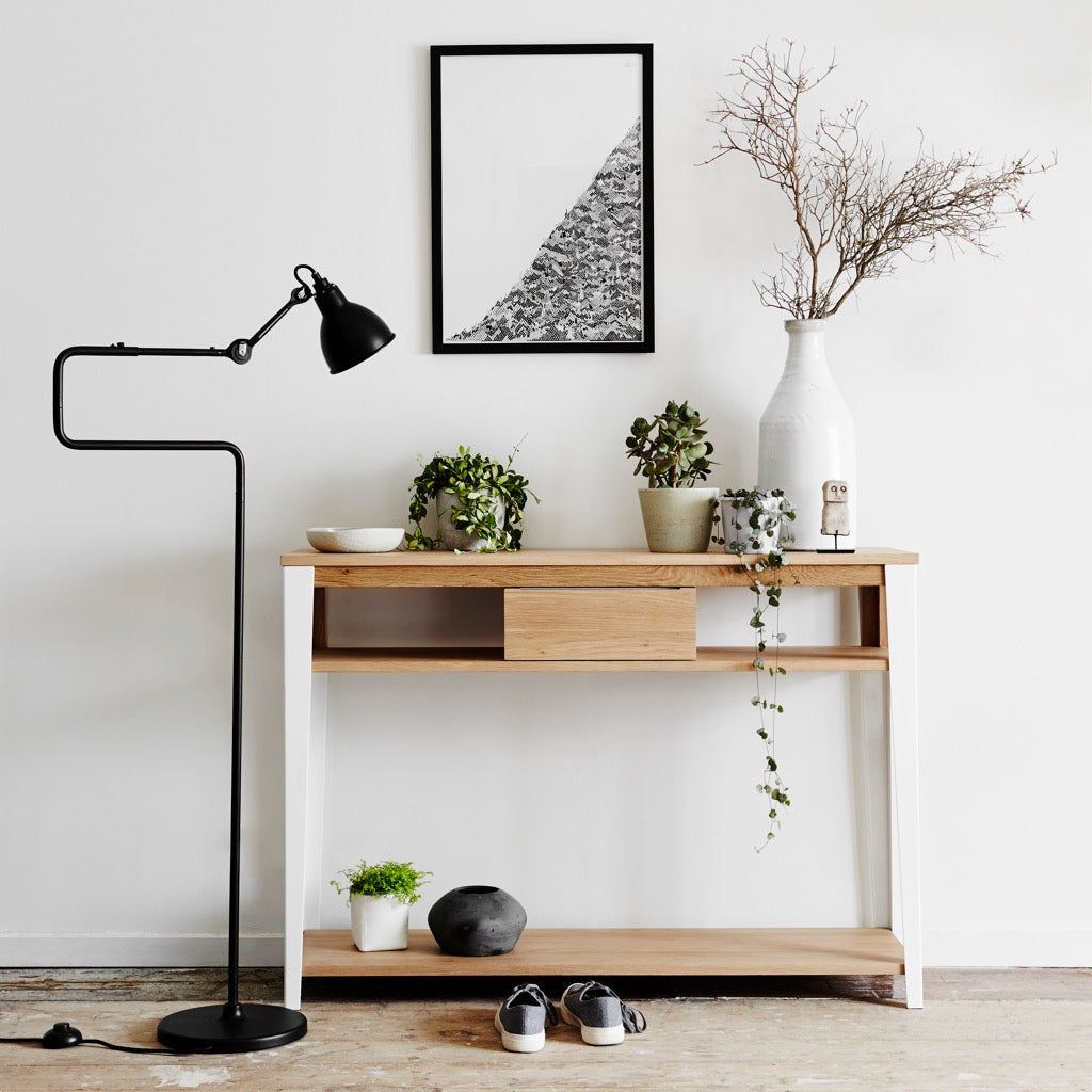 Industrial M console in white