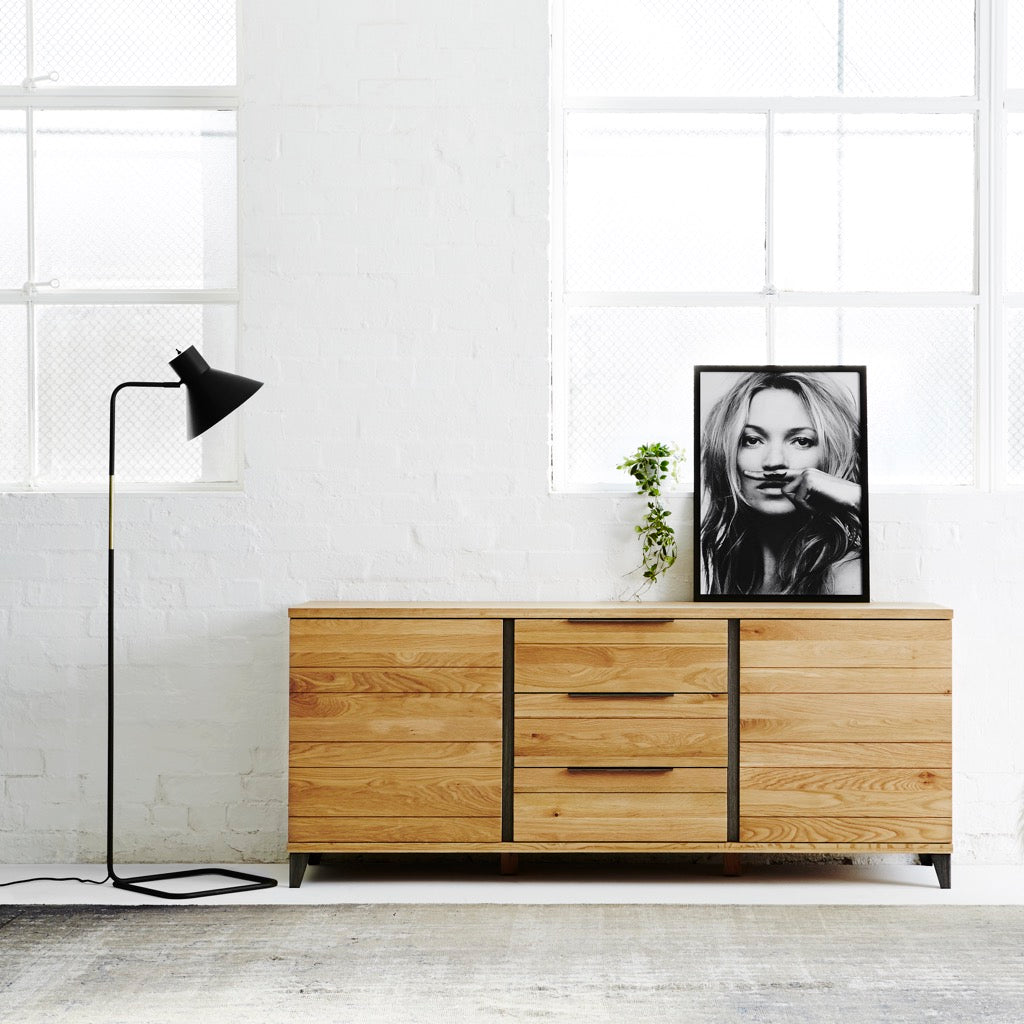 Industrial M sideboard in charcoal