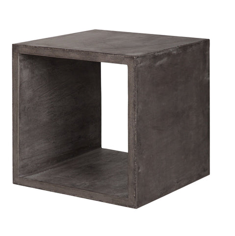 Concrete Square Cube Table - Dark Grey