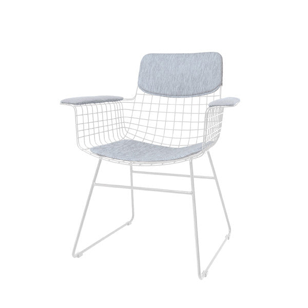 Metal Wire Dining Chair with arms - White