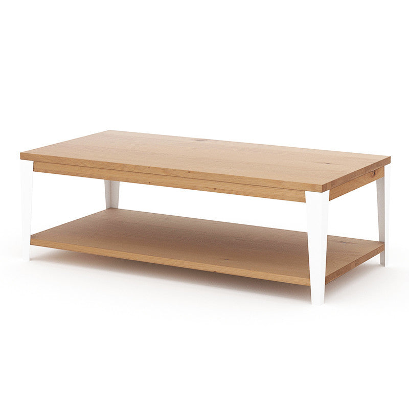 Industrial M Coffee Table - White