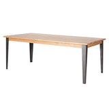 Industrial M Extension Dining Table - Graphite