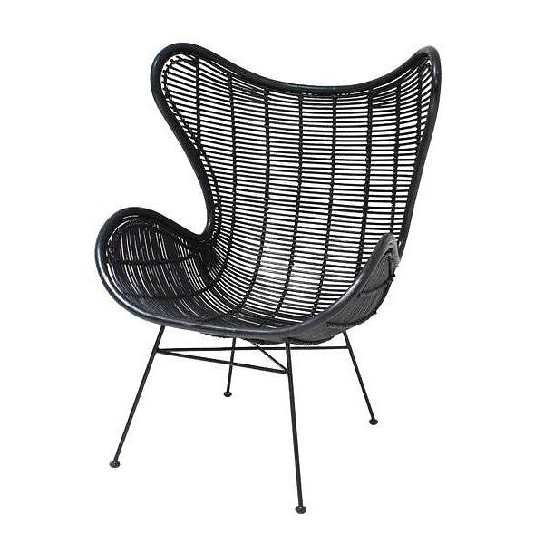 Black Rattan Egg Chair