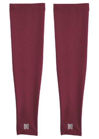 Athletic Arm Sleeves - Maroon