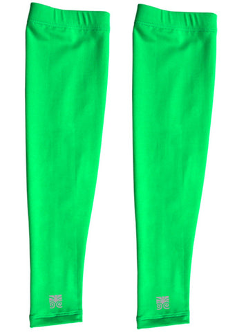 Running Arm Warmers - Neon Green