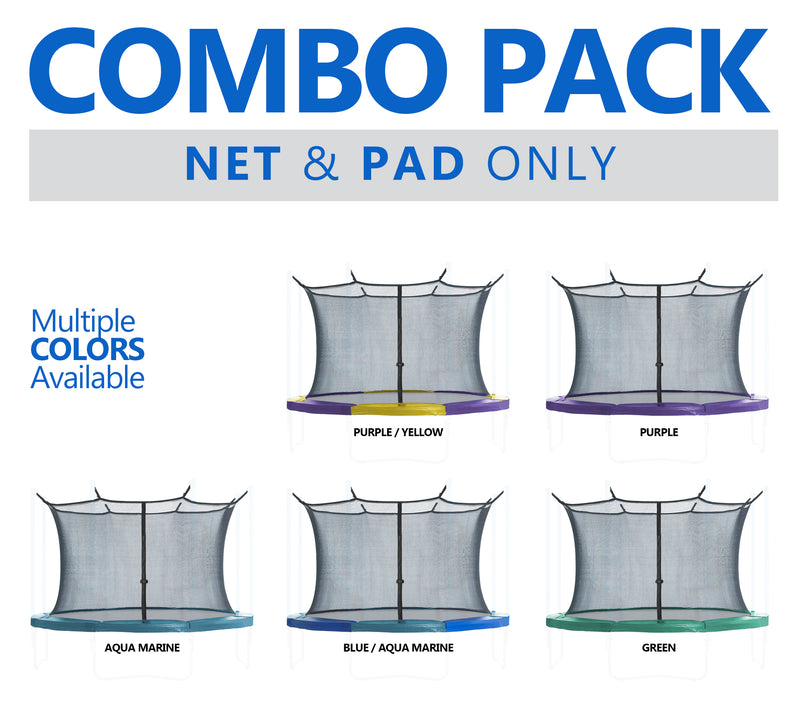Trampoline Enclosure Net and Safety Pad set Combo