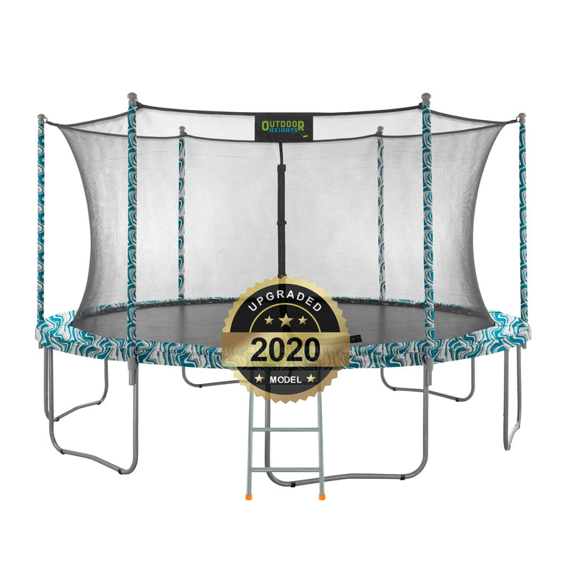Adult & Kid Outdoor Trampoline with Safety Net