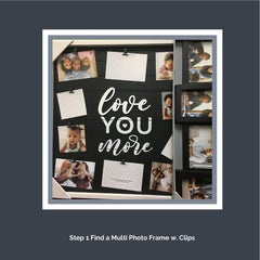 Step 1. Find a multi photo picture frame with clips to secure your mementos and keepsakes