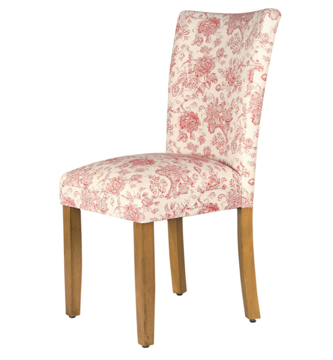 Parsons Dining Chair - Cream and Red Toile