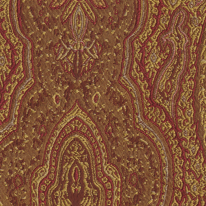 Parsons Dining Chair - Red and Gold Damask