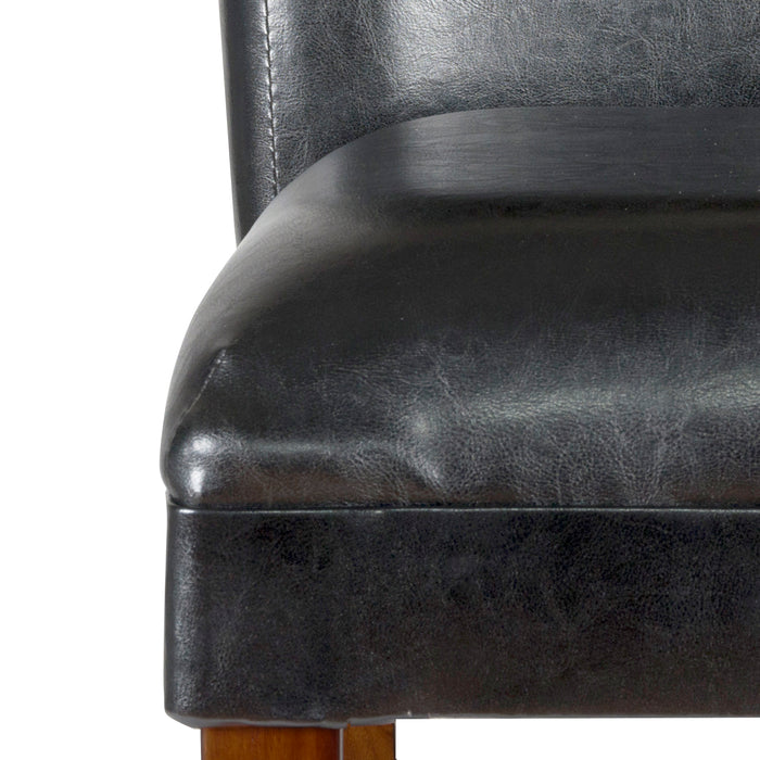 "24"" Barstool - Luxury Black Faux Leather"